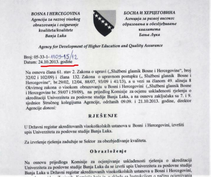 Fakultet ostao bez akreditacije još u oktobru 2018.
